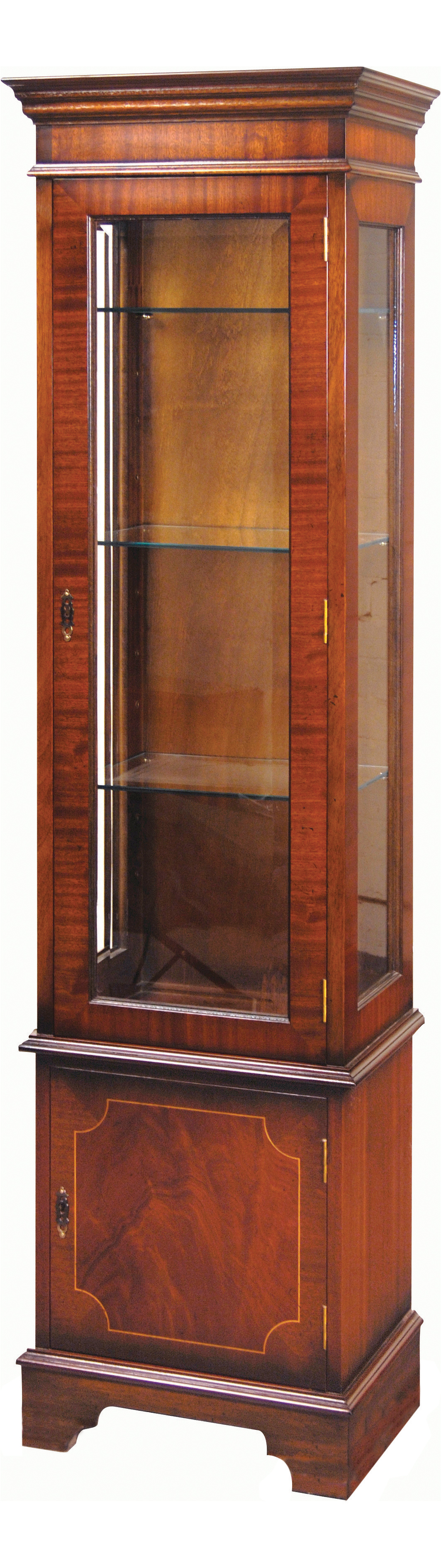 One Door Tall China Display Cabinets