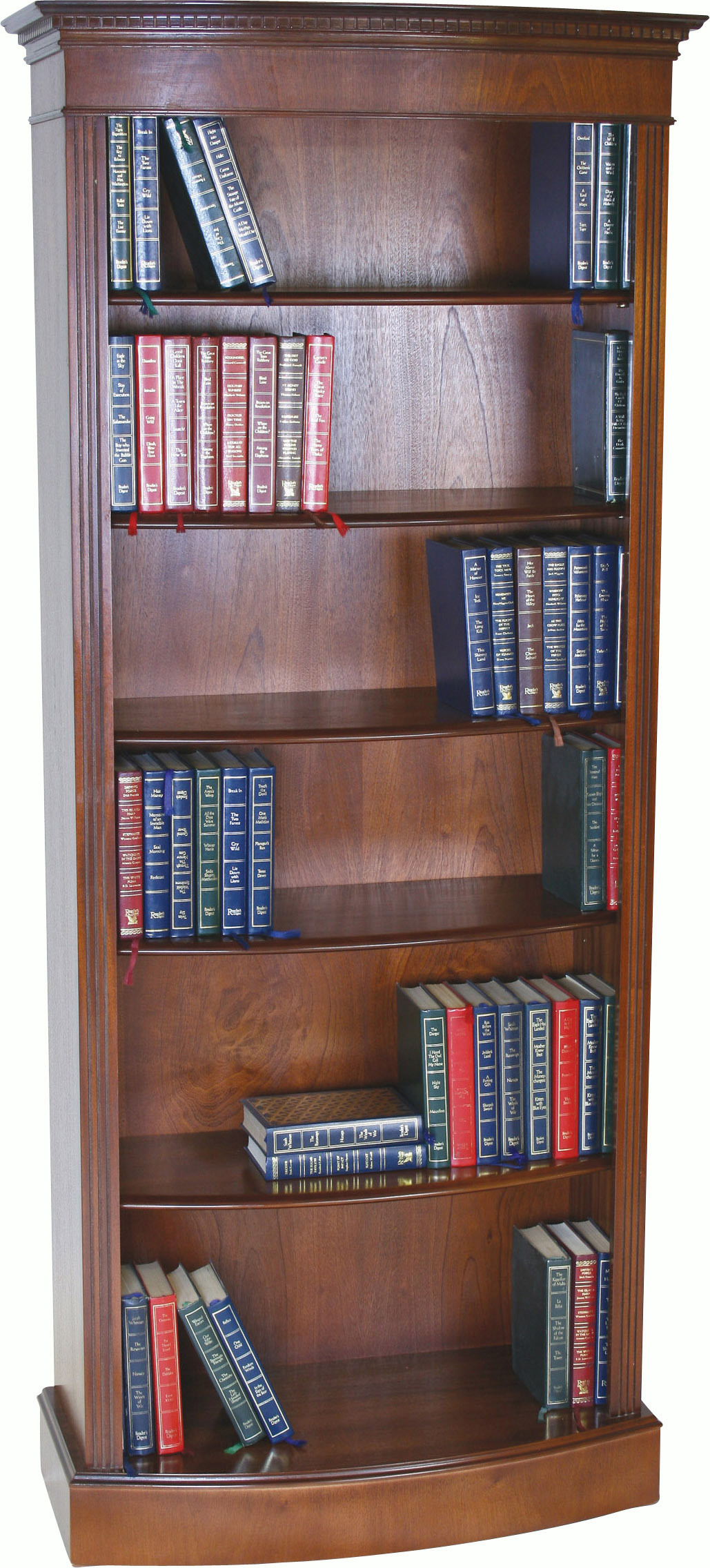 Tall Narrow Bow Bookcase Bookcases