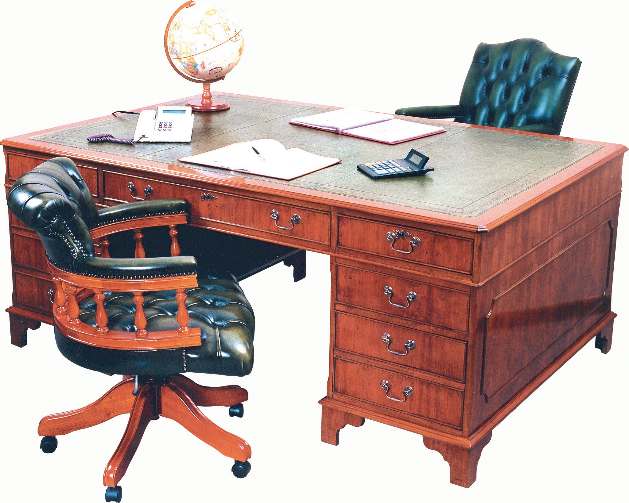 large desk reclaimed colonial partners pine