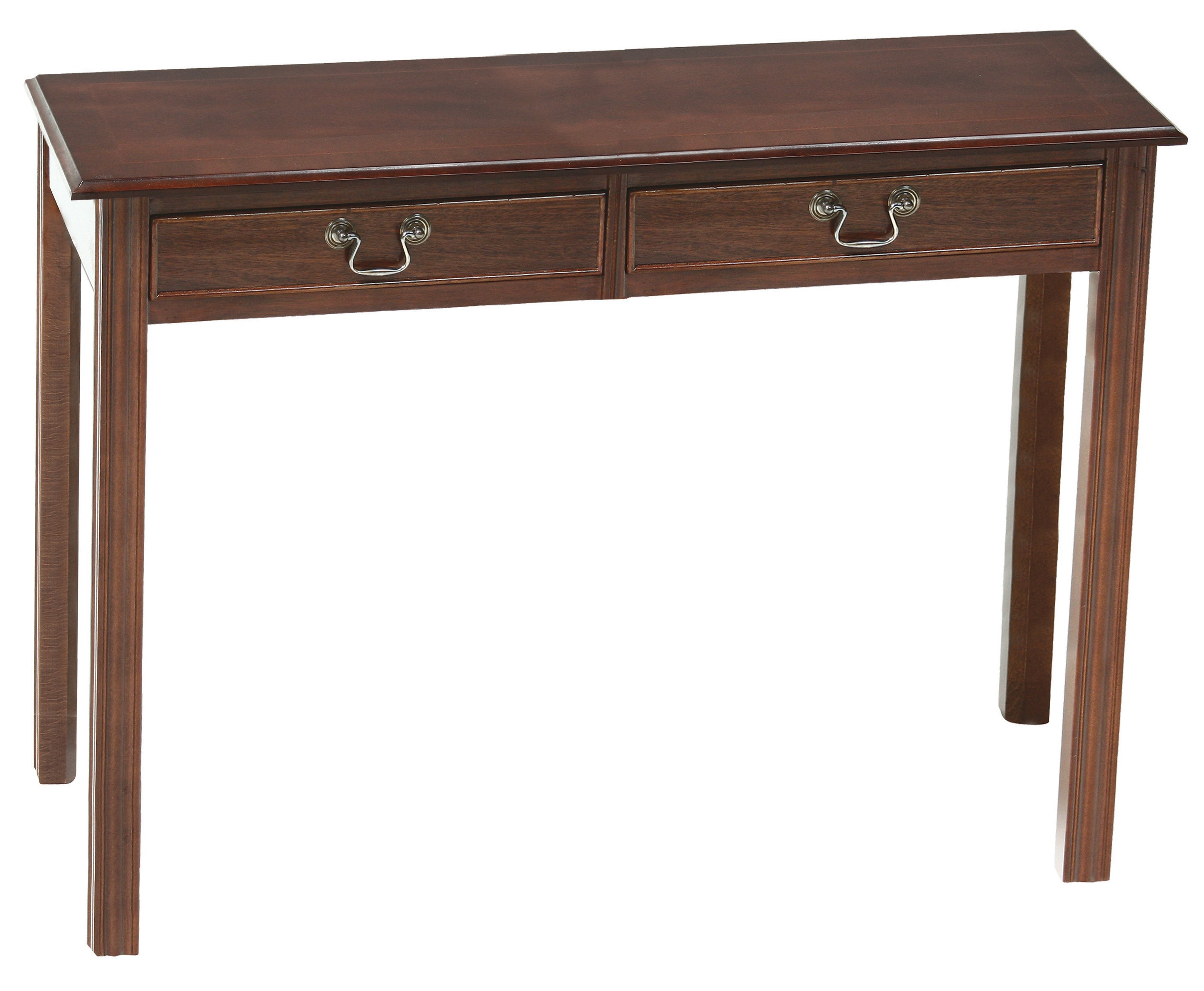 Chippendale narrow 2 drawer hall hall tables for Thin dressing table