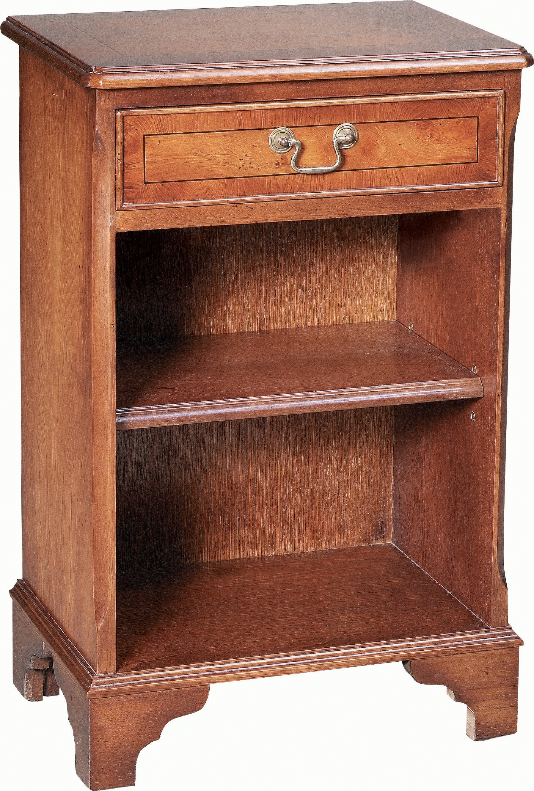 Small Open Bookcase 1 Drawer Bedside Cabinets
