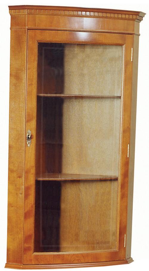 Superb Hanging Bow Front Corner Cabinet