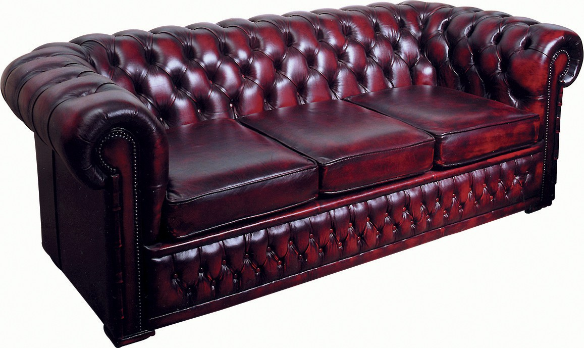 Chesterfield 3 Seater Leather Settees