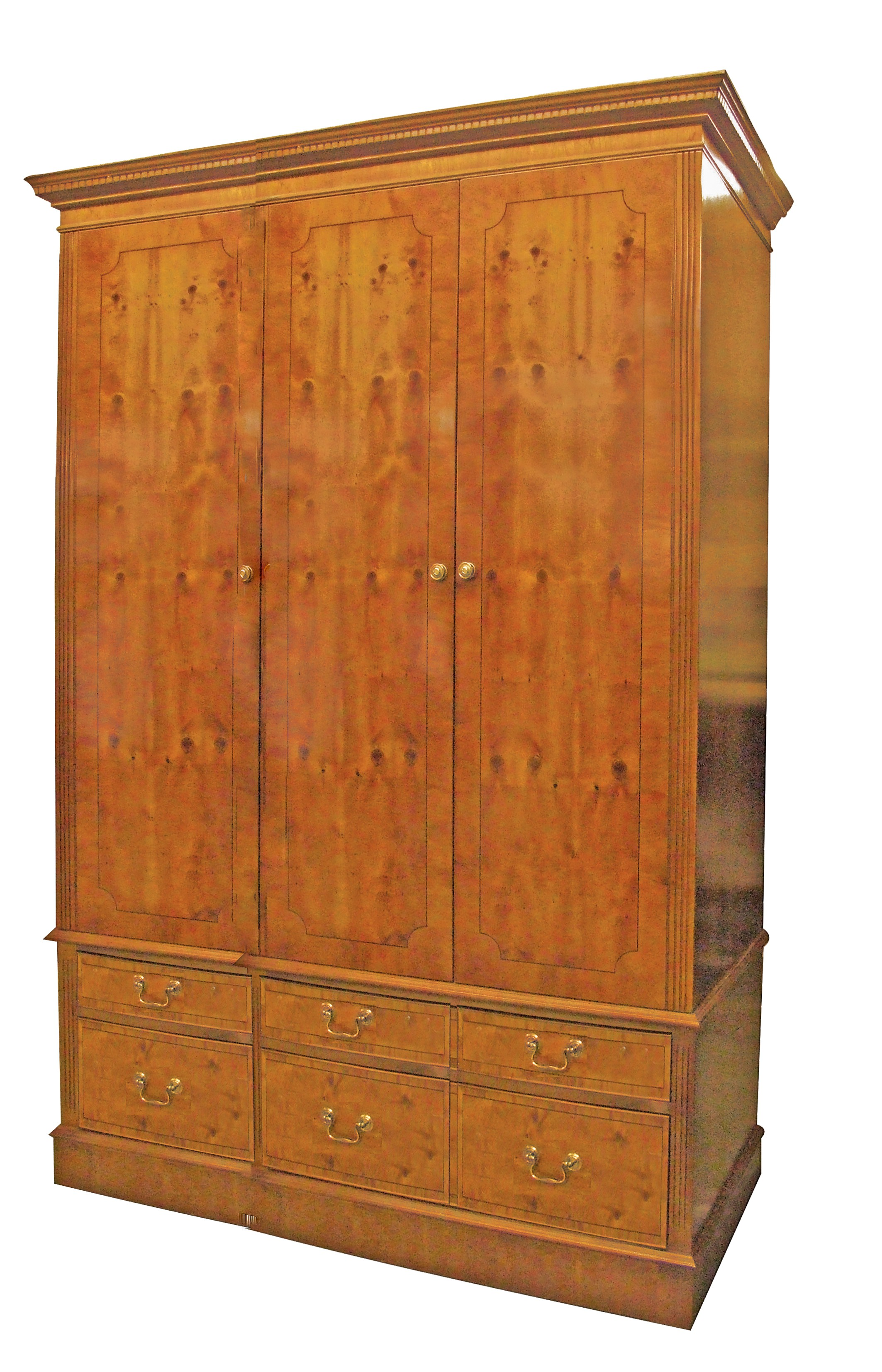 Door wardrobe large wooden drawers