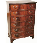 6 Drawer Serpentine Chest