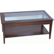 Hepplewhite Rectangular Glass Table with shelf