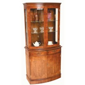 Bow Fronted Display Cupboard