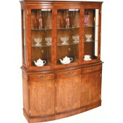 Triple Bow Fronted Display Cupboard