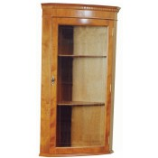 Hanging Bow Front Corner Cabinet