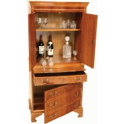 Large Straight Front Wine Cabinet