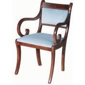 Upholstered Sabre Leg Carver