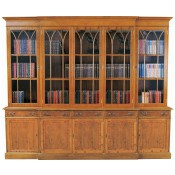 9' Georgian Bookcase 5 Doors