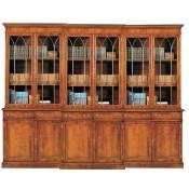 9' Georgian Bookcase 6 Doors