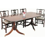 Solid Mahogany Regency 1 Leaf Wide Table