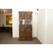Solid Oak Book Case Glass Doors | Ex-Display
